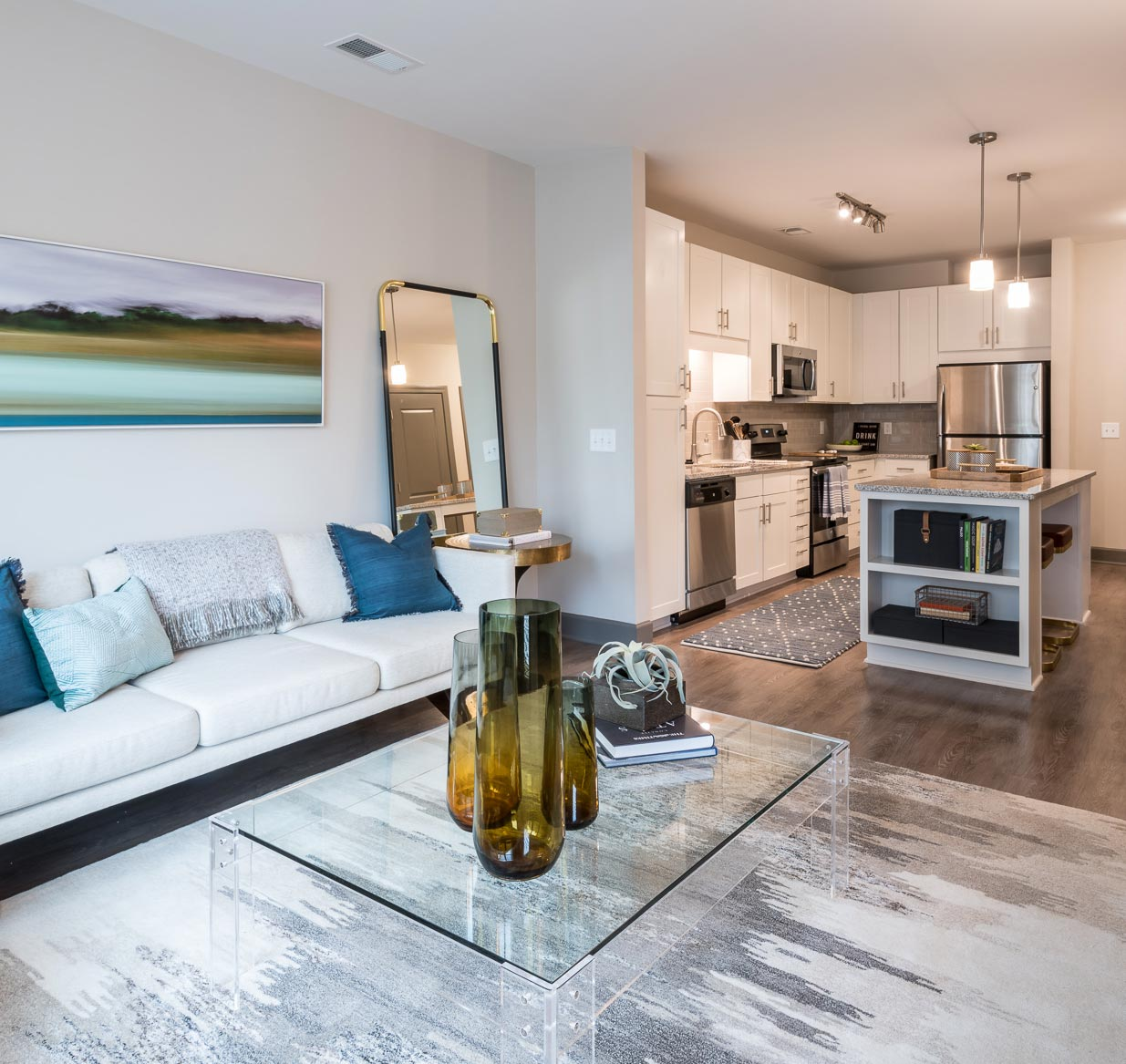 Unit Living Room | Sojourn Glenwood Place